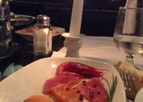 pesce ristorante a luma di candela