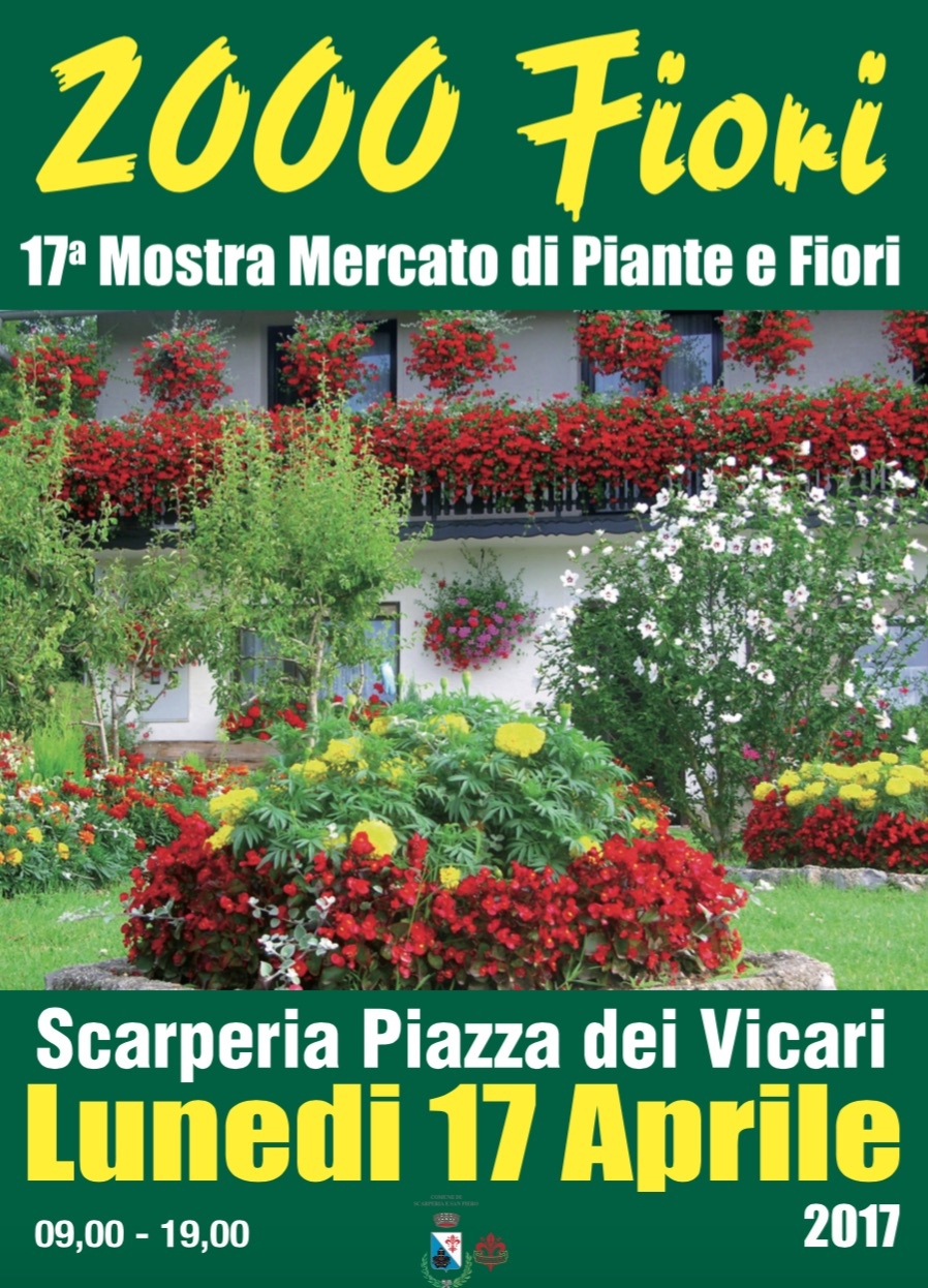 2000 fiori a Scarperia in Mugello lunedi di Pasquetta 2017