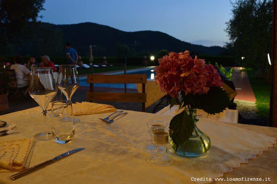 588 ristorante con piscina vicino firenze for Cena in piscina
