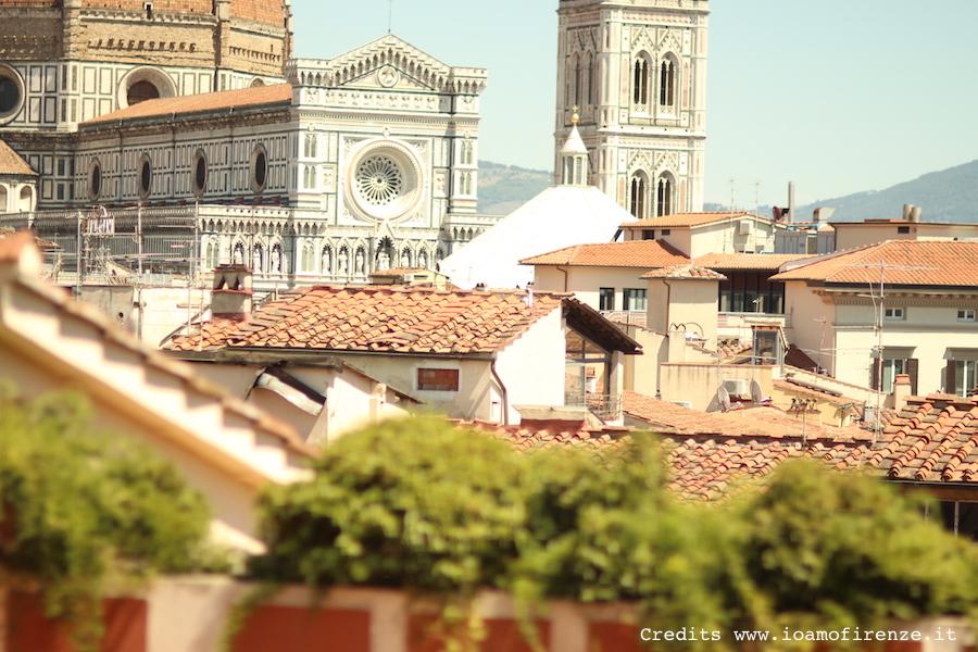 panorama di Firenze visto dalla terrazza del Grand hotel Baglioni