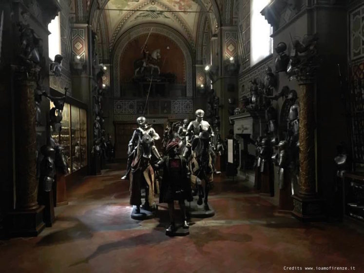 sala dei cavalieri al museo stibbert di firenze