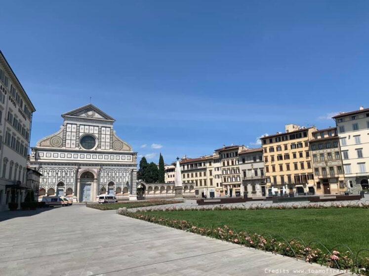 Piazza Santa Maria Novella deserta