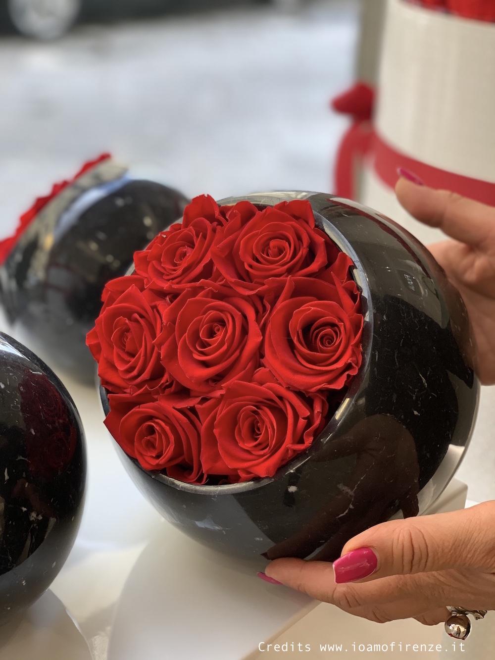 rose stabilizzate composizioni per arredo casa